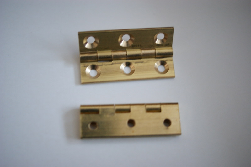 "11/2"" x 7/8"" Solid Drawn Brass Butt Hinges"