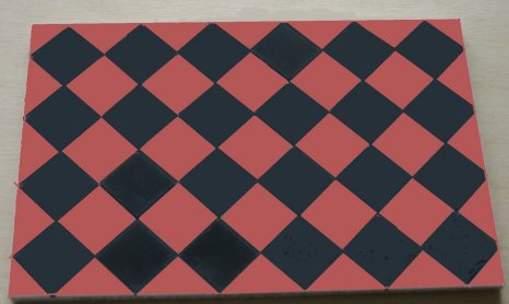 Black & Terracotta Square Quarry Tiles - Dolls House