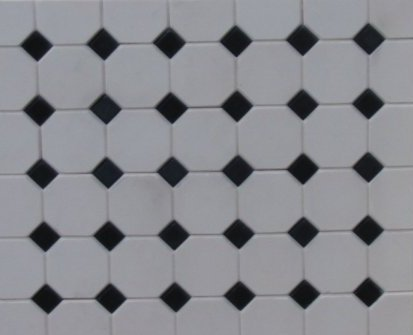 Octagonal Floor Tiles - Dolls House